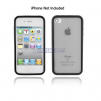 Frosty Clear Silicone with Hard Plastic Bumper Case for iPhone 4S