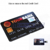 8GB Black Credit Card Shaped USB Flash Drive
