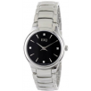 ESQ 07101367 Ladies Watch Stainless Steel Black Dial Daimonds