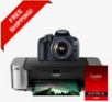 Canon EOS Rebel T5 DSLR Camera Deal with 18-55 IS II + Pro 100 Laser Inkjet Printer + Luster Paper
