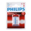 Philips 9V Power Alkaline Battery, 9V Smoke Detector Alarm Battery (6LR61P1B/27) - 6 Packs