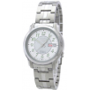 Seiko SNKL89 Mens Watch Seiko 5 Stainless Steel Case and Bracelet White Tone DIal Day and Date