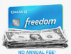 Chase Freedom Credit Card: Spend $500 in 1st 3-Months & Earn $200 CashBack