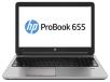 HP ProBook 655 G1 Notebook PC (ENERGY STAR): AMD Quad-Core, 8GB RAM, 500GB HDD, Windows 7 Professional