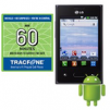 60-Minute Tracfone Airtime Card + LG Optimus Dynamic Smartphone
