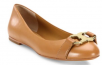Tory Burch Gemini Link Leather Ballet Flats