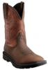 Ariat Groundbreaker Wide Square Toe Western Work Boots for Men