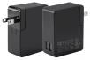 Obsidian Series 2-Port 4.8A International USB Charger with US/EU/UK/AU Plugs