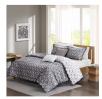 Madison Park Comforter Sets: 5-Piece Alexa Cotton (Queen; Grey) for $25, More