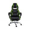 Merax Racing Style Executive PU Leather Swivel Chair with Footrest and Back Support Reclining