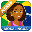 Learn Brazilian Portuguese with MosaLingua Premium (iOS App or Android App) for Free