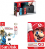 Nintendo Switch Neon Blue and Red Joy-Con + SanDisk 64GB microSDXC UHS-I Card + $20 Nintendo eShop Gift Card