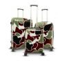 Gabbiano Camo Collection Expandable Hardside 3-Piece Luggage Set