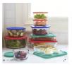 Pyrex 18-Piece Glass Storage Set (9 Containers + 9 Lids)