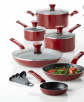 T-Fal Excite 14-Piece Aluminum Nonstick Cookware Set in Red